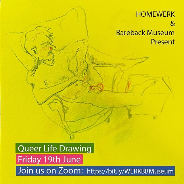 queer life drawing poster miles coote