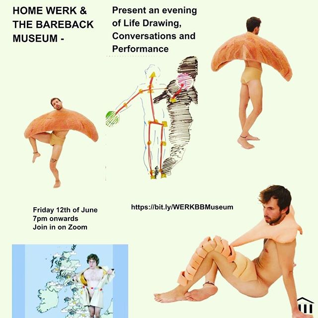 Queer life drawing event poster